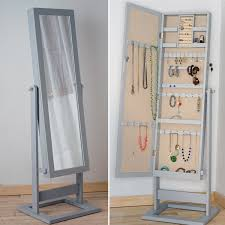 Jewelry Mirror Armoire Trinity Jewelry Mirror Front U201ccheval U201d Armoire Dove Grey Hives