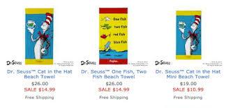 Free Shipping Pottery Barn Pottery Barn Kids Dr Seuss Beach Towel Deals U0026 Free Shipping