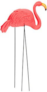 bright pink flamingo yard ornament 2pack home kitchen