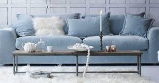 canap bleu ciel canape bleu pastel idées décoration intérieure farik us