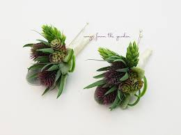 groomsmen boutonnieres thistle and succulent boutonnieres wedding groom groomsmen