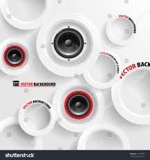 Speaker Design by Vector Abstract Background Overlapping Circles Concept Stock
