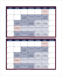 sample monthly timetable template 9 free documents download in