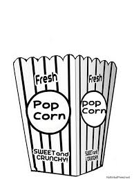 printable popcorn coloring pages movie popcorn bucket coloring