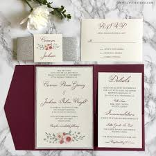 Silver Wedding Invitations Popular Collection Of Burgundy And Silver Wedding Invitations To