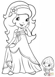 orange blossom and berrykin coloring page free printable