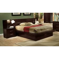 Platform Bed With Lights with Coaster Jessica King Pier Platform Bed With Rail Seating And