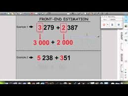 front end estimation youtube