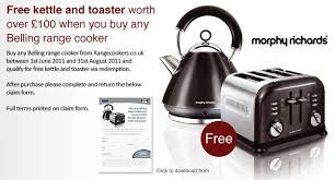 Morphy Richards Toasters And Kettles Free Kettle And Toaster With Any Belling Range Cooker Promotions