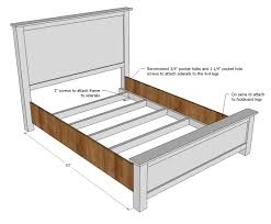 Ana White Farmhouse Storage Bed by 2x4 Bed Frame Plans Susan Decoration