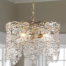 Gold Chandelier Light Decoration Flower L Shade Gold Ceiling Light Large Shade