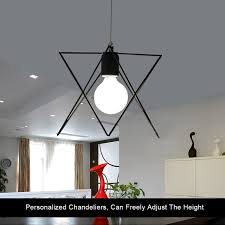 Wrought Iron Pendant Light Aliexpress Com Buy Wrought Iron Pendant Light Geometric Shape