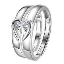 couples rings heart images Hao supreme silver jewelry plus heart s925 silver couple ring a jpg