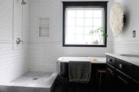 the black and white bathroom interior theme design with the right