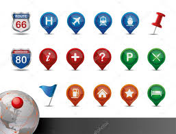 Map Icon Gps And Map Icon Set U2014 Stock Vector Blinkblink 9471270