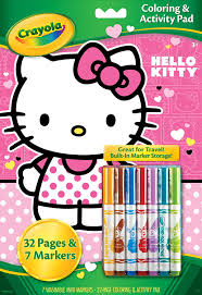 amazon com crayola hello kitty coloring and activity pad with