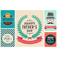 fathers day hipster card vector free download