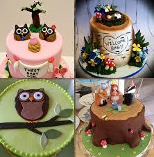woodland themed baby shower woodland themed baby shower cake cake ideas