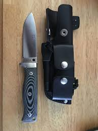 cudeman mt 5 bushcraft survival knife with ferro rod and dc4