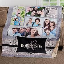 custom photo sherpa blanket 50x60 family memories photo gifts