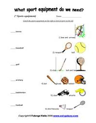 esl english vocabulary printable worksheets sports olympic games