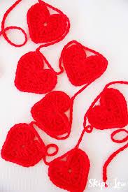 Crochet Halloween Garland Easy Crochet Heart Garland Pattern Skip To My Lou