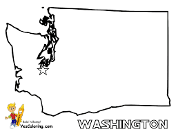Blank State Map by Washington State Map Clipart 35