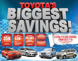toyota cars price list philippines toyota motor philippines offers big savings this july auto
