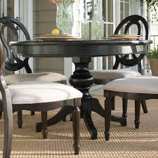 round dark wood pedestal dining table dining table enchanting small black and white dining room