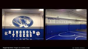 kat morris murals best chattanooga mural painter these other walls in the newly rebuilt wrestling and cheerleading complex got the same branded oval tiger mural as found in the middle school gym