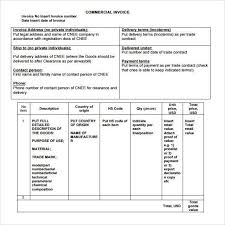 commercial invoice format 11 commercial invoice templates