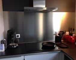 plaque d inox pour cuisine plakinox photos crédences inox réalisation de crédences