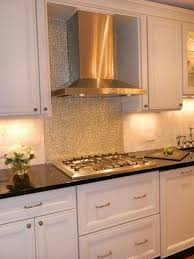 Metal Wall Tiles Kitchen Backsplash Kitchen Backsplash Stainless Steel Cooktop Backsplash Metallic