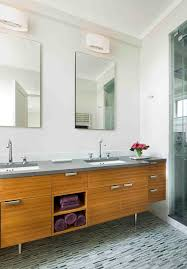 mid century vanity bathroom midcentury with bamboo vanity bathroom