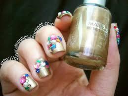 libertine fall 2013 inspired nail art gold and gems aka so much