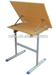 Foldable Drafting Table School Classroom Mdf Folding Furniture For Drawing Table Wood