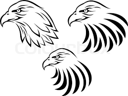 eagle head tattoo stock vector colourbox