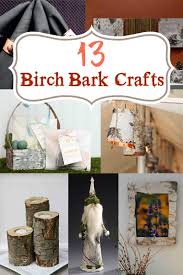 Birch Home Decor 13 Birch Bark Crafts For Home And Holidays Bazaar Crafts