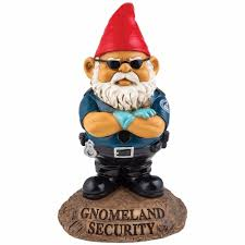 Garden Nome by Bigmouth Inc Gnomeland Security Guard Garden Gnome Outdoor