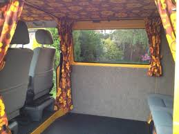 Van Window Curtains Curtains And Rail Done Vw T4 Forum Vw T5 Forum Campers