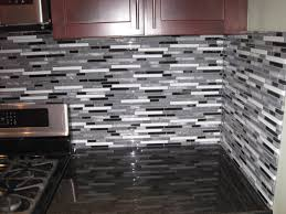 glass and stone mosaic tile backsplash fresh gray blue mosaic tile