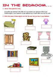 English Teaching Worksheets The Bedroom - Name of bedroom furniture