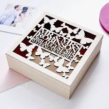 wedding keepsake box personalised butterfly wedding keepsake box by