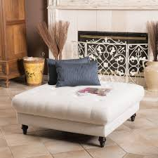 square white upholstered tufted ottoman coffee table for rustic