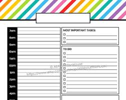 free printable daily planner pages 2014 weekly planner printable rainbow stripe pdf editable fillable