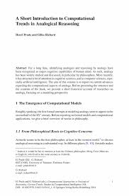 a short introduction to computational trends in analogical