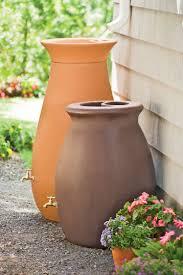 83 Gallon Deck Box by Rainwater Barrel Urn Shape Holds 65 Gallon Gardeners Com