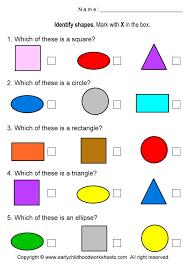 shape recognition worksheet identify shapes worksheets worksheet 5