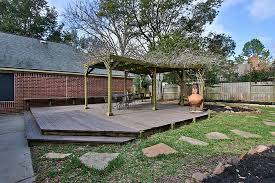 Deck In The Backyard 24806 Meadow Oaks Katy Tx 77494 Har Com