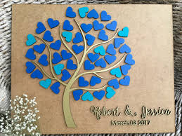 personalized guestbook personalized guestbook tree of hearts wedding alternative tree